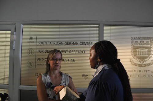 Student and alumna of the centre