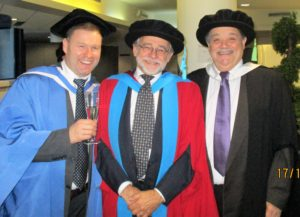 From left to right: Dr. Andy Jenkins, Chris Savage, Prof. Colin Bamford